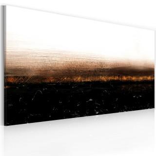 Χειροποίητα ζωγραφισμένος πίνακας - Black soil (Abstraction)