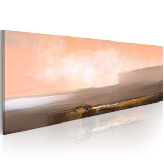 Χειροποίητα ζωγραφισμένος πίνακας - Between pink and grey