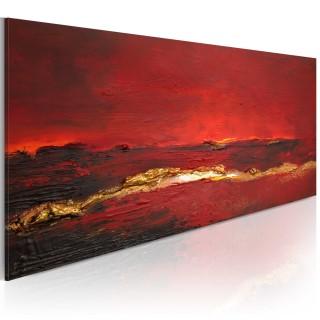 Χειροποίητα ζωγραφισμένος πίνακας - Redness of the ocean