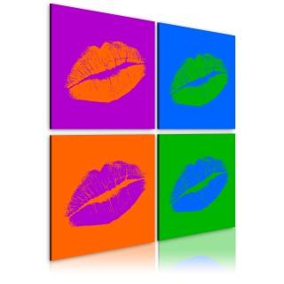 Πίνακας - Kisses: Pop art