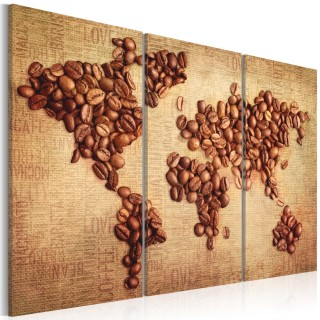Πίνακας - Coffee from around the world - triptych