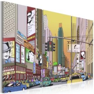 Πίνακας - Cartoon city