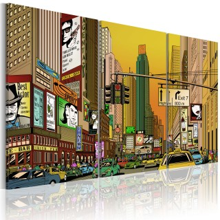 Πίνακας - Cartoon NYC