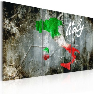 Πίνακας - Artistic map of Italy - triptych