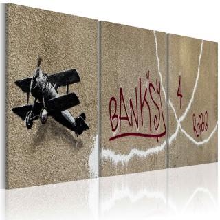 Πίνακας - Airplane (Bansky)