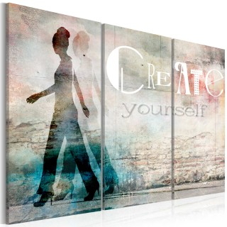 Πίνακας - Create yourself - triptych