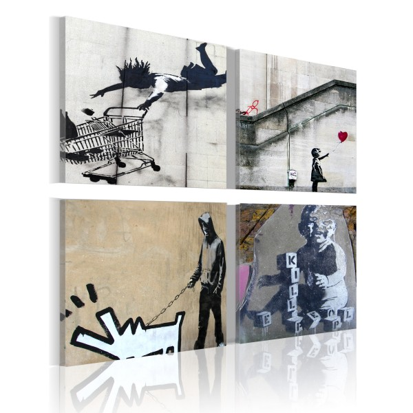 Πίνακας - Banksy - four orginal ideas