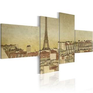 Πίνακας - Parisian chic in retro style