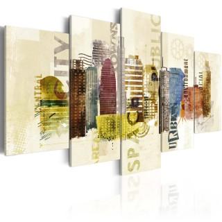 Πίνακας - Urban design - 5 pieces