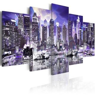 Πίνακας - Moonlit night in New York City