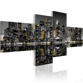 Πίνακας - Golden flash of skyscrapers