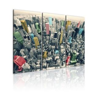 Πίνακας - New York, black&white&colors