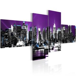 Πίνακας - New York on a violet background