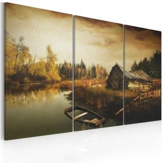 Πίνακας - Idyllic village - triptych
