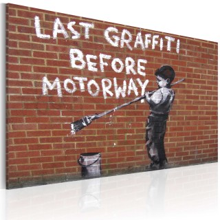 Πίνακας - Last graffiti before motorway (Banksy)