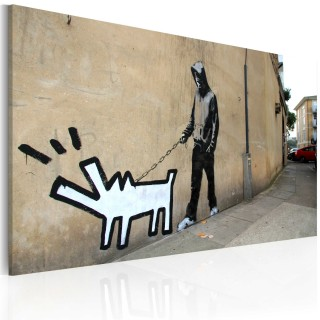 Πίνακας - Barking dog (Banksy)