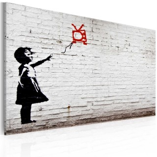 Πίνακας - Girl with TV (Banksy)