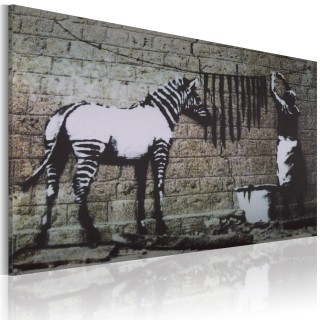 Πίνακας - Zebra washing (Banksy)