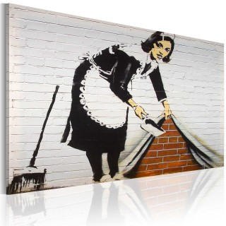 Πίνακας - Cleaning lady (Banksy)
