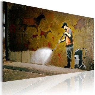 Πίνακας - Whitewashing Lascaux (Banksy)