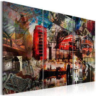 Πίνακας - London collage - triptych