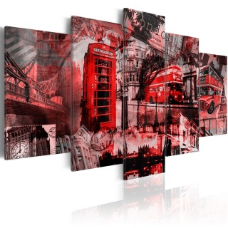 Πίνακας - London collage - 5 pieces