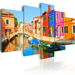 Πίνακας - Waterfront in rainbow colors
