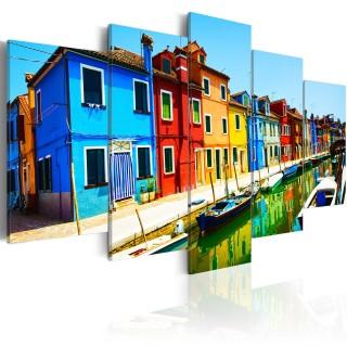 Πίνακας - Houses in the colors of the rainbow
