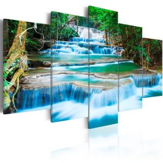 Πίνακας - Blue Waterfall in Kanchanaburi, Thailand