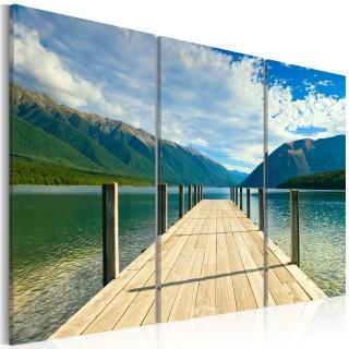 Πίνακας - A pier on the lake