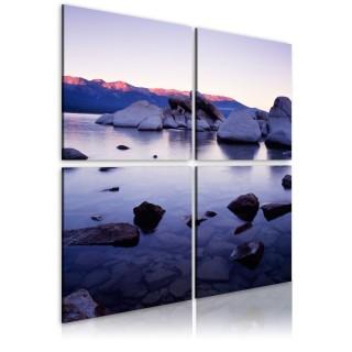 Πίνακας - Rocky shore of alpine lake