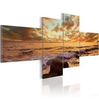 Πίνακας - Sunset over the sea