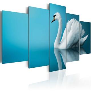 Πίνακας - A swan in blue