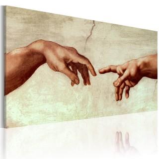 Χειροποίητα ζωγραφισμένος πίνακας - The creation of Adam: fragment of painting