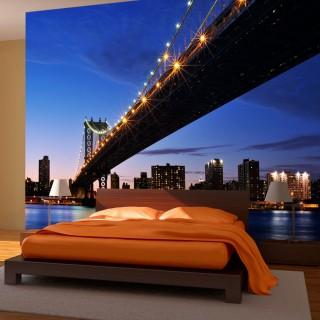 Φωτοταπετσαρία - Manhattan Bridge illuminated at night