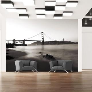 Φωτοταπετσαρία - San Francisco: Golden Gate Bridge in black and white