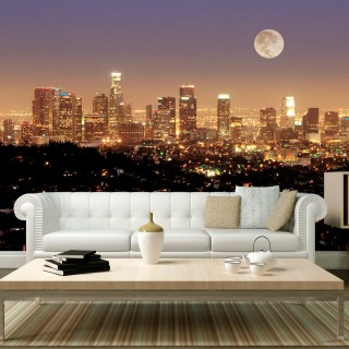 Φωτοταπετσαρία - The moon over the City of Angels