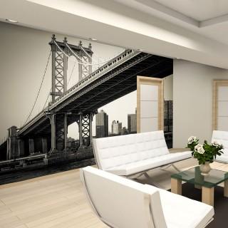 Φωτοταπετσαρία - Manhattan Bridge, New York