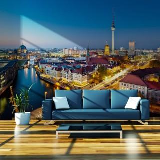 Φωτοταπετσαρία - Berlin view from Fischerinsel (night)