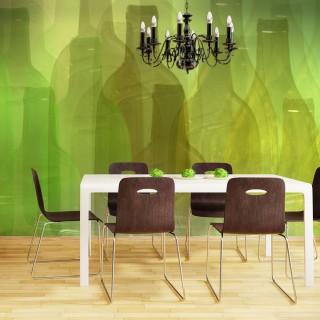Φωτοταπετσαρία - Green bottles