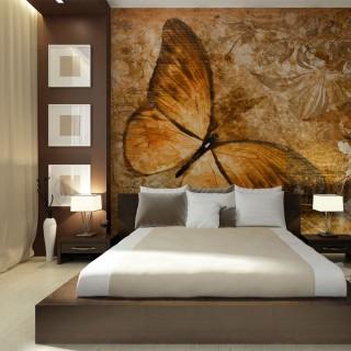Φωτοταπετσαρία - butterfly (sepia)