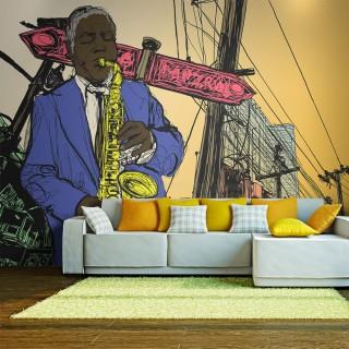 Φωτοταπετσαρία - Saxophonist in New York