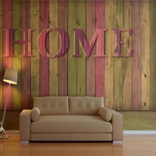 Φωτοταπετσαρία - house (pink)
