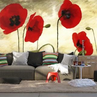 Φωτοταπετσαρία - Golden Field of Poppies