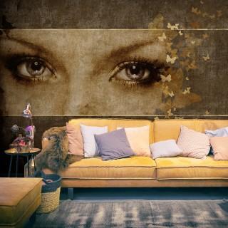 Φωτοταπετσαρία - Woman and butterflies