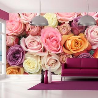 Φωτοταπετσαρία - Pastel roses