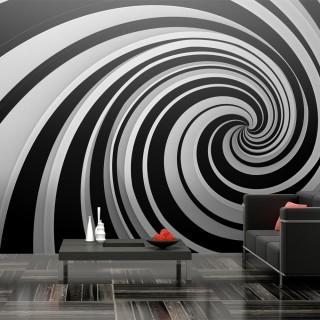 Ταπετσαρία XXL - Black and white swirl