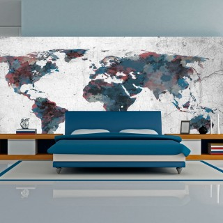 Ταπετσαρία XXL - World map on the wall