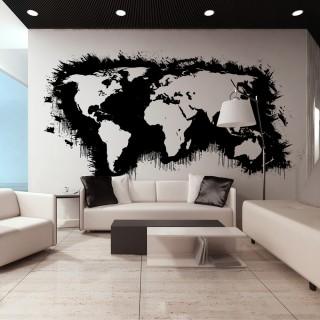 Ταπετσαρία XXL - White continents, black oceans...