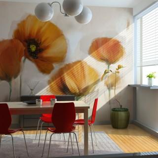 Φωτοταπετσαρία - poppies - vintage